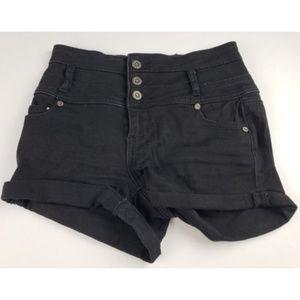 1st Kiss Black Denim Jean Shorts Juniors Size 3 *